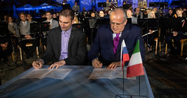 Podpis sporazuma - Firma dell'accordo
